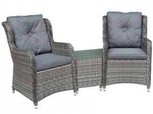 Seville Companion Set Grey Weave & Pepper Grey Cushions