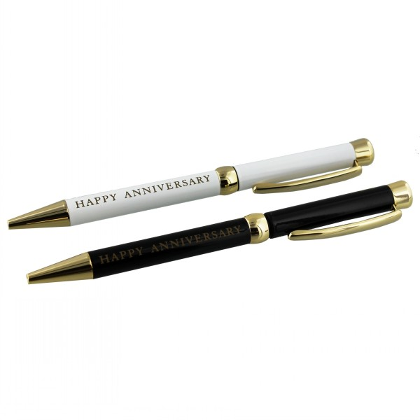 Amore Set Of Two Pens Happy Anniversary