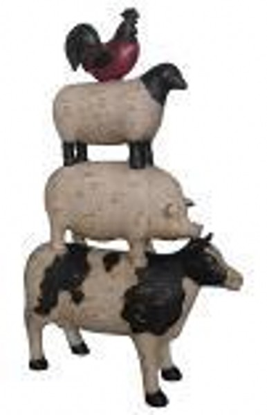 Animal Stacking Cow Pig Sheep Cockrerel 37cm