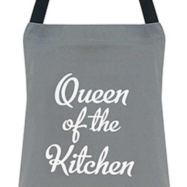 Apron Queen Of The Kitchen Grey