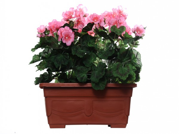 Artificial Geranium Planter