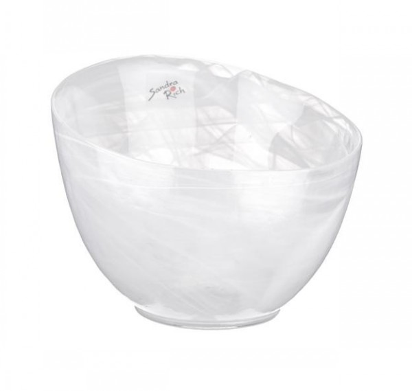 Alabaster Glass Bowl White