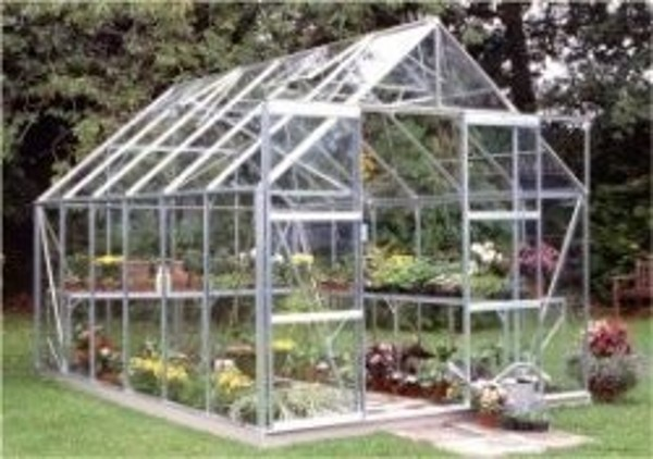 ALUMINIUM MAGNUM 12ft x 8ft GREENHOUSE with HORTICULTURAL GLASS