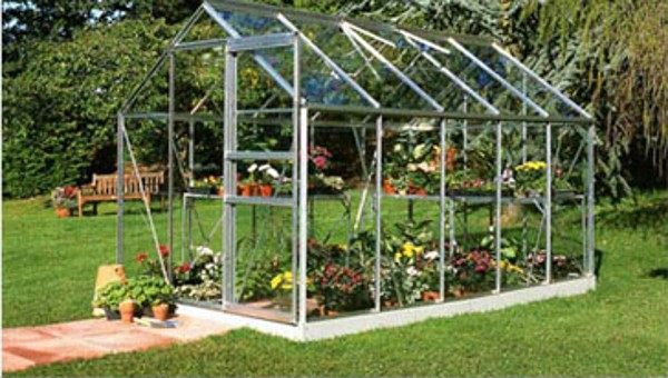 ALUMINIUM POPULAR 10ft x 6ft GREENHOUSE with POLYCARBONATE GLAZING