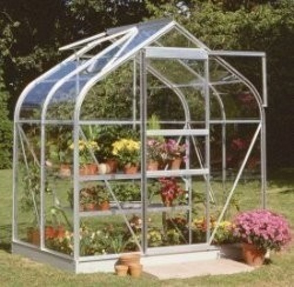 ALUMINIUM SUPREME 4ft x 6ft GREENHOUSE with HORTICULTURAL GLASS
