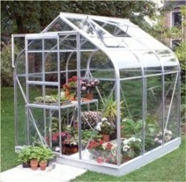 ALUMINIUM SUPREME 6ft x 6ft GREENHOUSE with HORTICULTURAL GLASS
