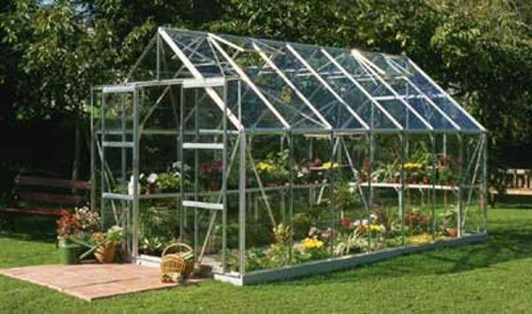 ALUMINIUM MAGNUM 14ft x 8ft GREENHOUSE with TOUGHENED GLASS