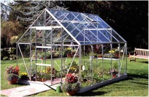 ALUMINIUM UNIVERSAL 10ft x 8ft GREENHOUSE with TOUGHENED GLASS
