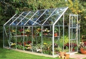 ALUMINIUM UNIVERSAL 12ft x 6ft GREENHOUSE with TOUGHENED GLASS