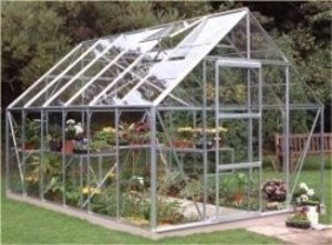 ALUMINIUM UNIVERSAL 12ft x 8ft GREENHOUSE with TOUGHENED GLASS