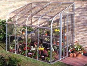 ALUMINIUM SILVERLINE 8ft x 6ft LEAN TO with HORTICULTURAL GLASS