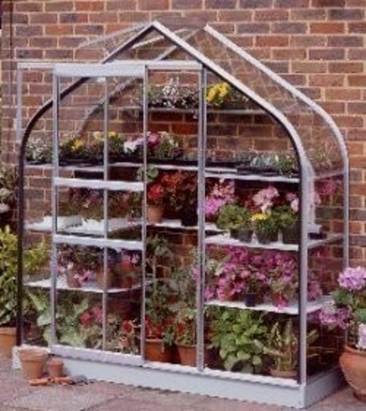 ALUMINIUM SUPREME WALL GARDEN 6ft x 2ft LEAN TO with HORTICULTURAL GLASS