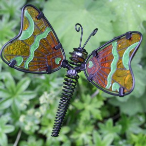 GLASS FOREST BUTTERFLY STAKE