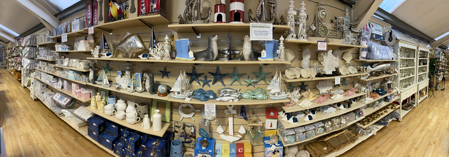 Giftware Section at Hawley Garden Centre